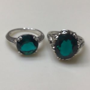 925 Size 6 Apatite Ring Duo